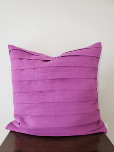 Pleated Pillow Cover - Linen (purple)