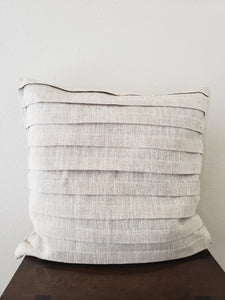 Pleated Pillow Cover - Linen (Natural)