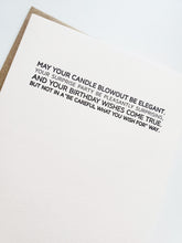 Load image into Gallery viewer, birthday: small blessing. letterpress card.