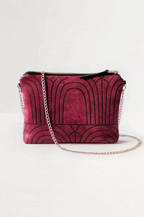 Dulce Clutch & Chain - Arches Burgundy
