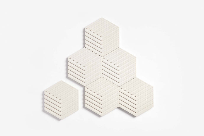 Table Tiles Concrete (Natural White)