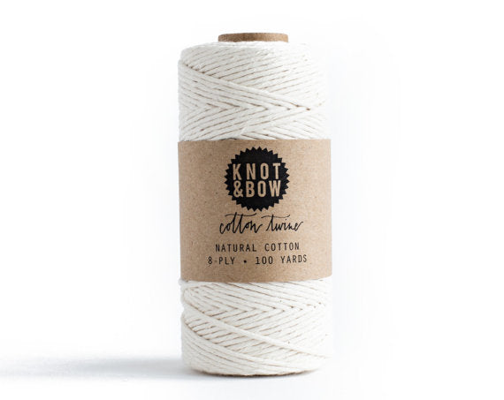 Natural Cotton Twine / 100 Yds