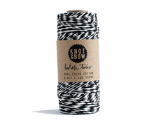 Load image into Gallery viewer, Black/Natural Cotton Twine / 100 Yds