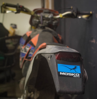 Mosko Moto Custom Product Mosko Blue Lizard Decal