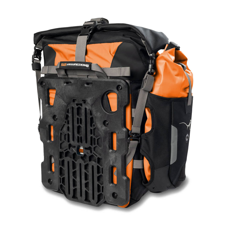 Mosko Moto Pannier Backcountry 35L Pannier Kit (V2.1) - Limited Edition Orange
