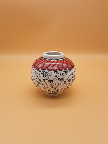 "3"" Turkish Ceramic Vase, Hand painted"