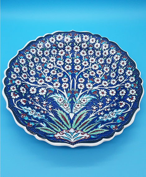 "12"" Turkish Ceramic Plates, Hand Painted"