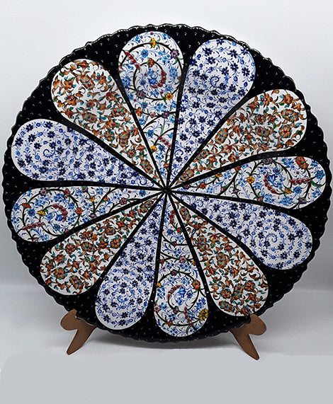 "16"" Plate Turkish Ceramic, Hand Painted."