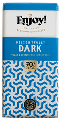 Enjoy Delightfully Dark Organic Gluten & Dairy Free Vegan Chocolate Bar (70g)