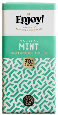 Enjoy Magical Mint Organic Gluten & Dairy Free Vegan Chocolate Bar (70g)