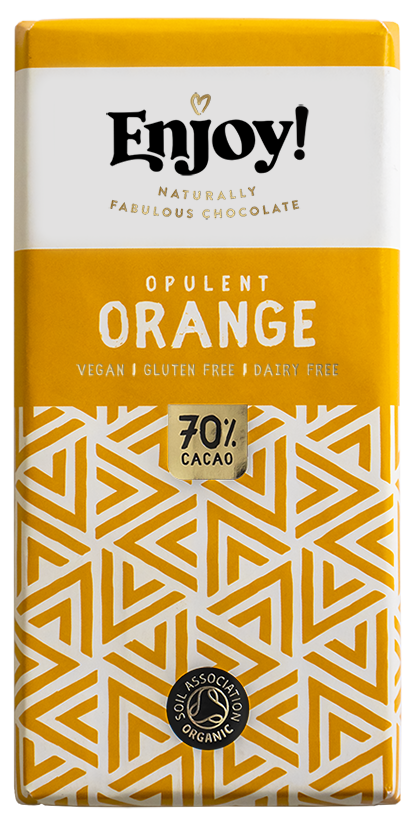 Enjoy Opulent Orange Organic Gluten & Dairy Free Vegan Chocolate Bar (70g)