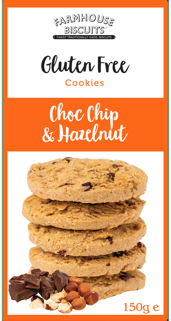 Farmhouse Biscuits Gluten Free Chocolate Chip & Hazelnut Cookies (150g)