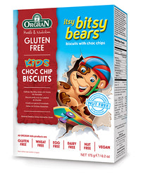 Orgran Gluten, Dairy & Nut Free Vegan Itsy Bitsy Bears Chocolate Chip Cookies (175g)