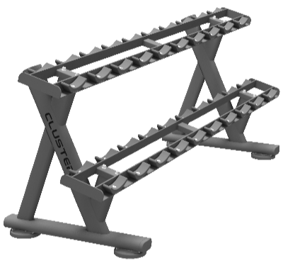 Double Layer Dumbbell Rack (For PU or Other Round Dumbbells)