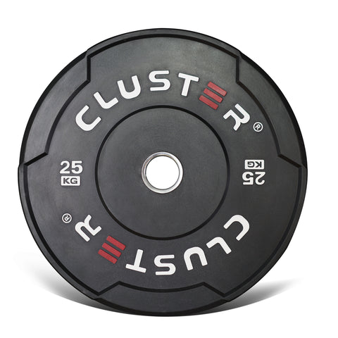Cluster Black Training Bumper Plates (5KG - 25KG) - (CLEARANCE)