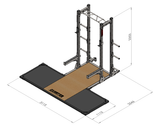 Combination half Power Rack - With weightlifting platfrom