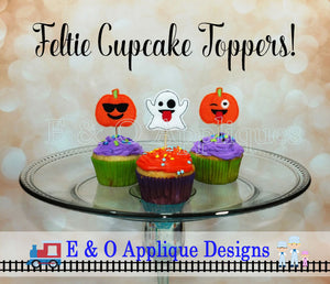 Using Felties To Make Cupcake Toppers