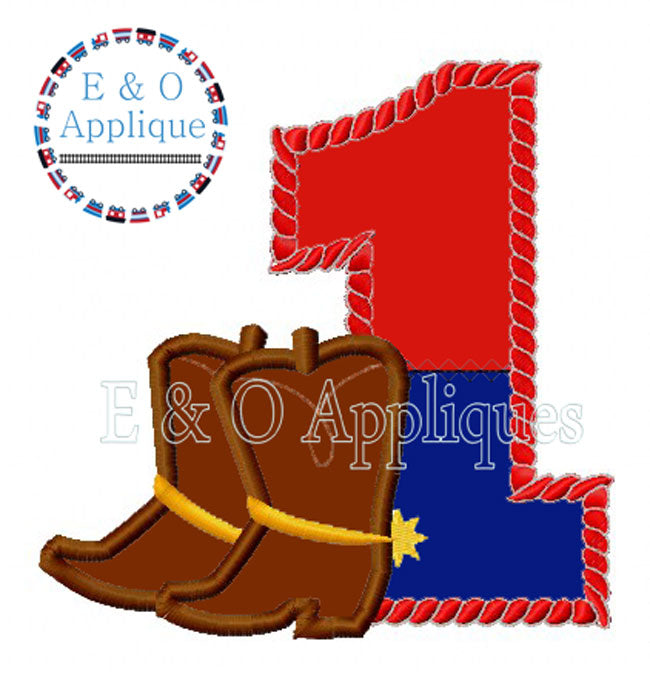 Cowboy Boots Split 1 Applique