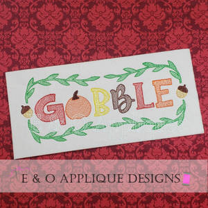 Gobble Motif Embroidery Design