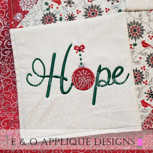 ITH Christmas Quilt Block Hope