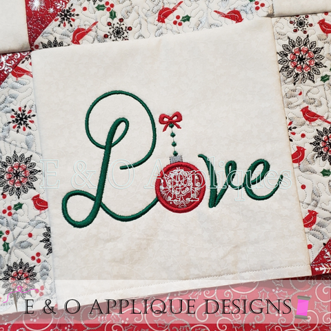 ITH Christmas Quilt Block Love