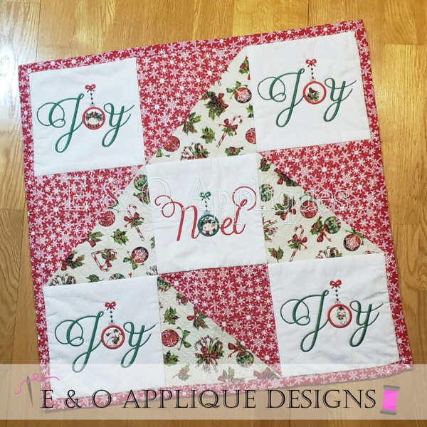 ITH Christmas Quilt Block Jolly