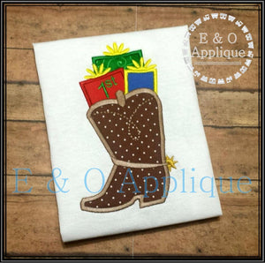 1st Christmas Cowboy Boot