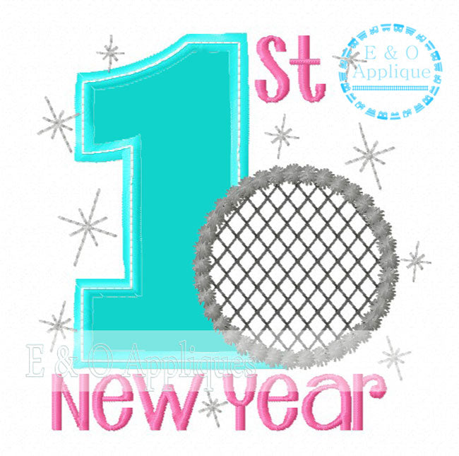 1st New Year Applique Design
