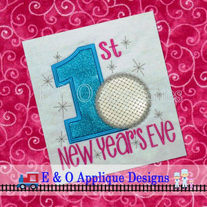 1st New Year's Eve Digital Applique Design