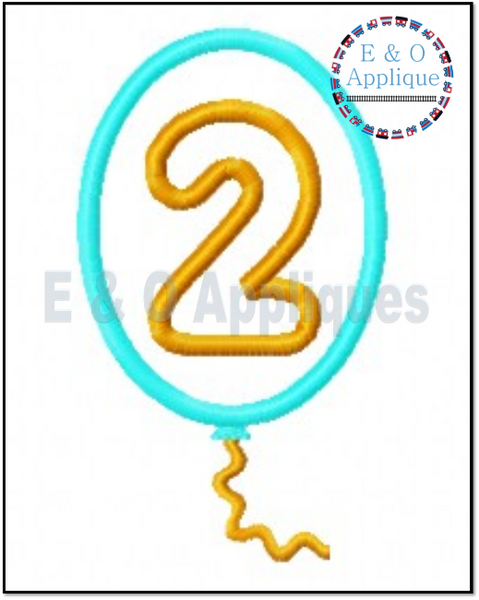 Birthday Balloon 2nd Applique