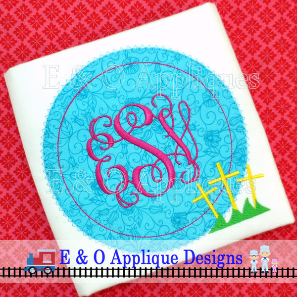 3 Crosses Digital Applique Design