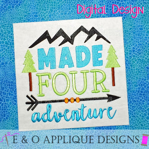 Made Four Adventure Embroidery Design