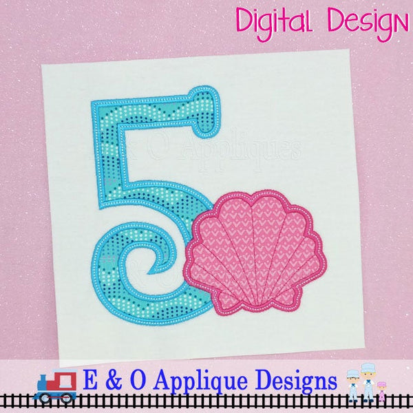 Seashell 5 Digital Applique Design