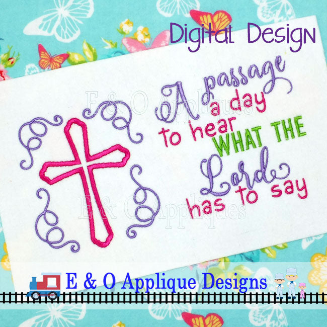 A Passage a Day Set Embroidery Design