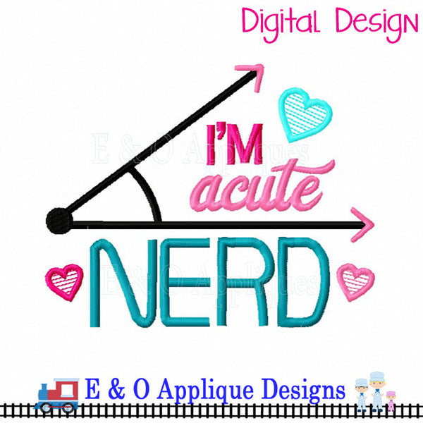 Acute Nerd Embroidery Design
