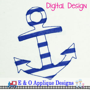 Anchor Bean Stitch Applique