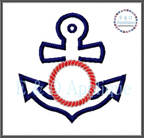 Anchor Monogram Applique