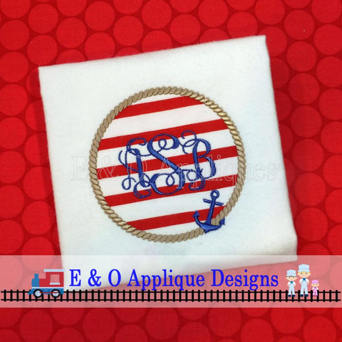 Anchor Rope Applique Design