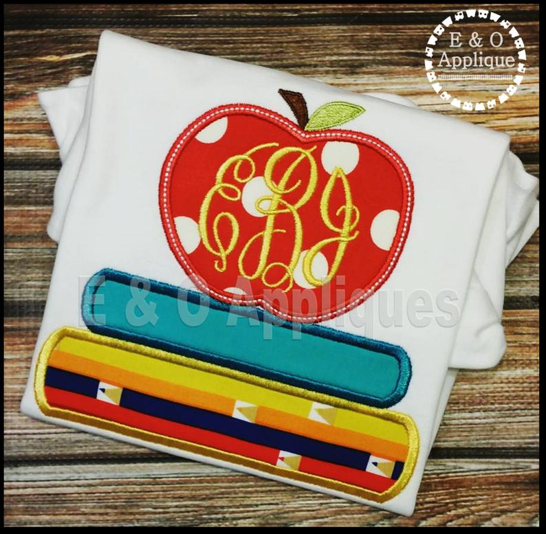 Apple Books Applique Design