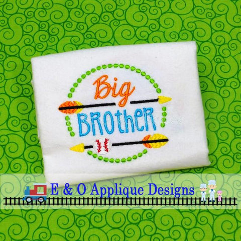 Arrow Big Brother Baseball Digital Embroidery Design