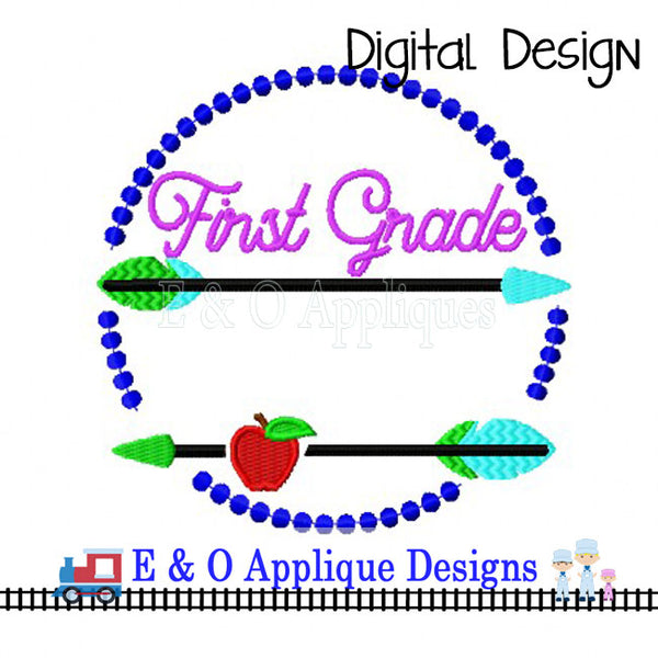 Arrow 1st Grade Digital Embroidery Design