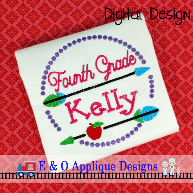 Arrow 4th Grade Digital Embroidery Design