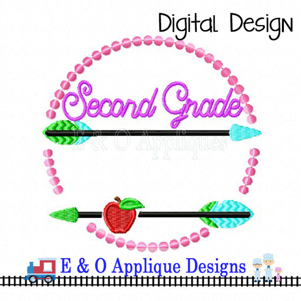 Arrow 2nd Grade Digital Embroidery Design