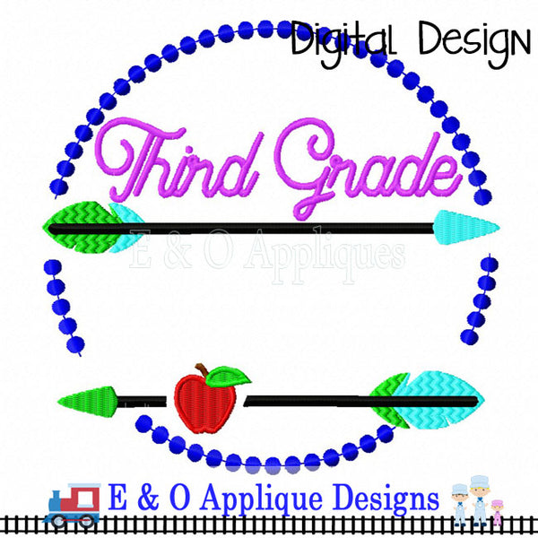 Arrow 3rd Grade Digital Embroidery Design