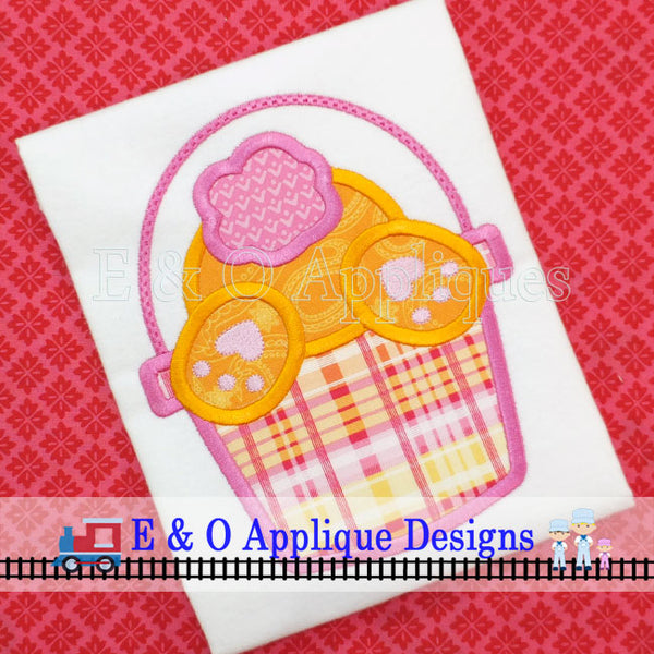 Bunny Tail Basket Digital Applique Design