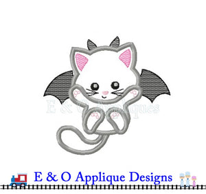 Cat Bat Applique