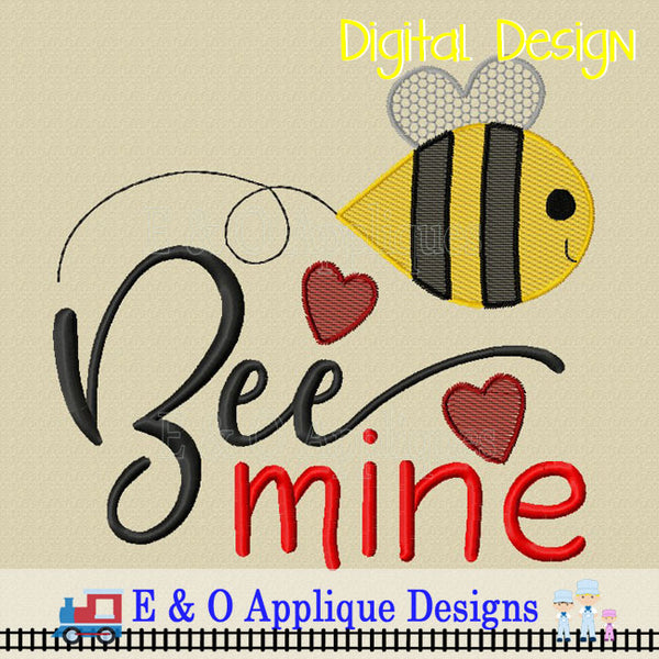 Bee Mine Sketchy Embroidery Design