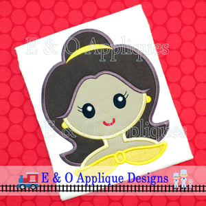 Belle Princess Digital Applique Design