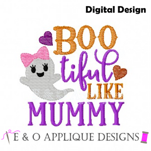 Boo tiful Like Mummy Embroidery Design