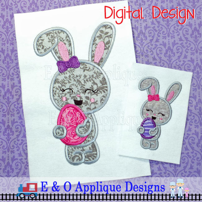Bunny Egg Girl Applique